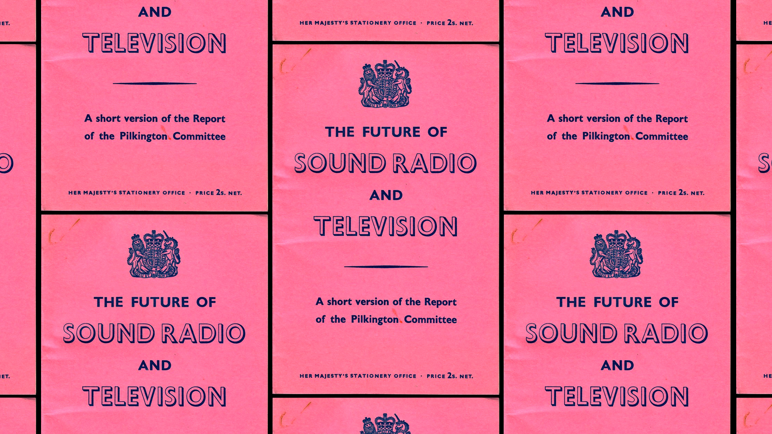 Cover of The Pilkington Report from Her Majesty's Stationery Office circa 1962